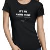 anime thing ladies tshirt black