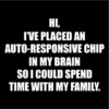 autoresponsive chip black square