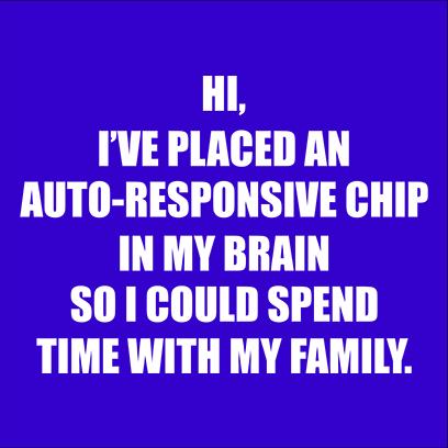 autoresponsive chip blue square