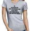 autoresponsive chip ladies tshirt grey