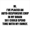 autoresponsive chip white square
