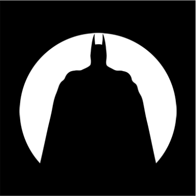 Batman Circle Silhouette