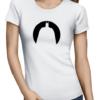 batman circle silhouette ladies tshirt white
