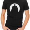 batman circle silhouette mens tshirt black