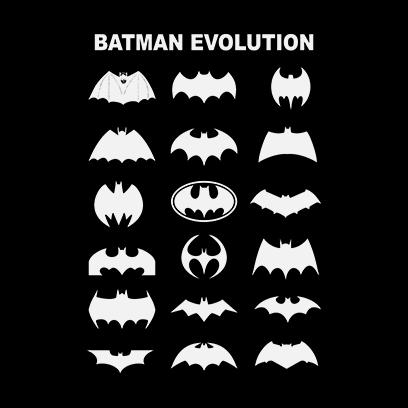 batman logo evolution black square