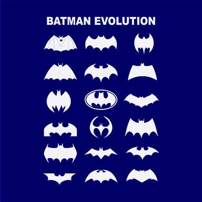 batman logo evolution navy square