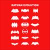 batman logo evolution red square