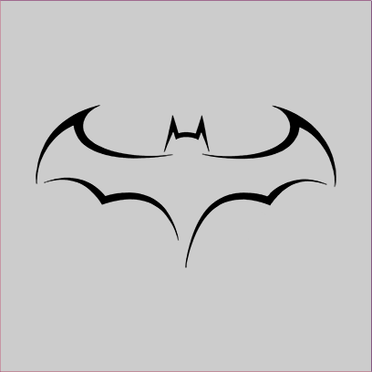 batman outline logo grey square