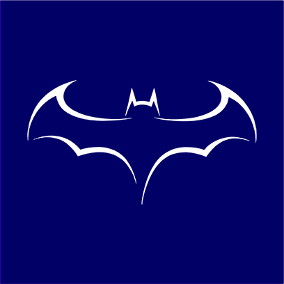 batman outline logo navy square