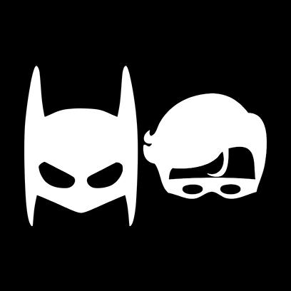 batman robin black square
