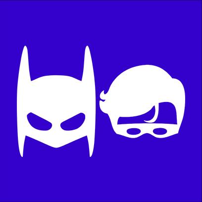 batman robin blue square