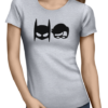 batman robin ladies tshirt grey
