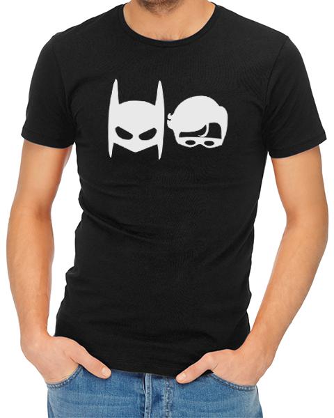batman robin mens tshirt black