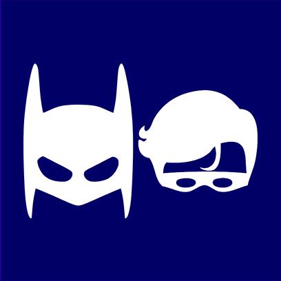 batman robin navy square
