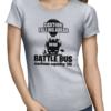 battle bus ladies tshirt grey