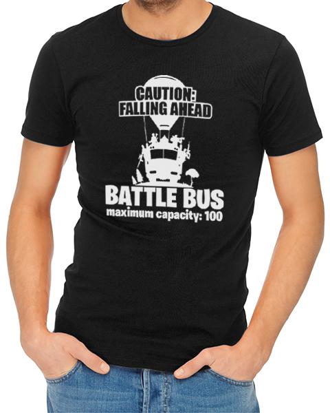 battle bus mens tshirt black