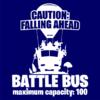 battle bus navy square