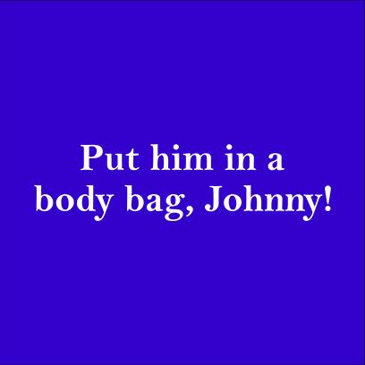 body bag johnny blue square