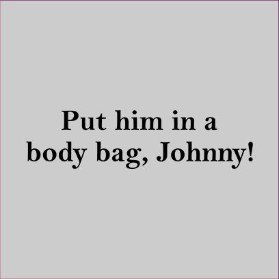 body bag johnny grey square