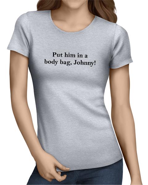 body bag johnny ladies tshirt grey