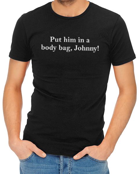 body bag johnny mens tshirt black