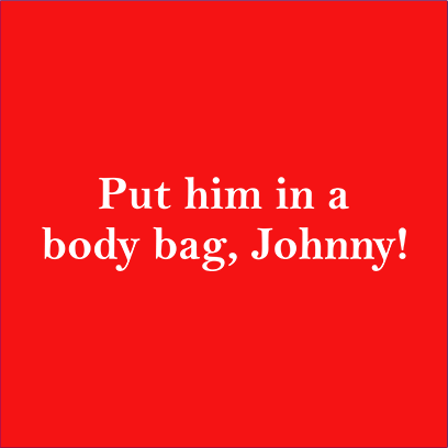body bag johnny red square