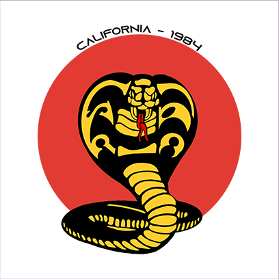 california cobra white square
