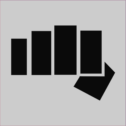 cobra kai fist grey square