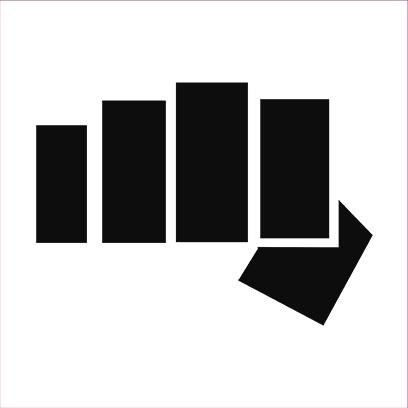 cobra kai fist white square
