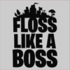 floss like a boss grey square
