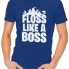 floss like a boss mens tshirt blue