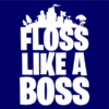floss like a boss navy square