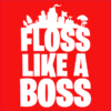 floss like a boss red square