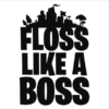 floss like a boss white square
