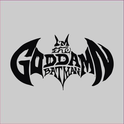 goddamn batman grey square