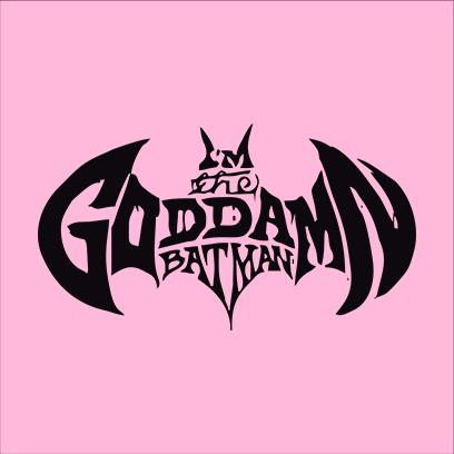 goddamn batman pink square