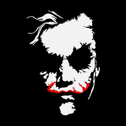 joker face black square