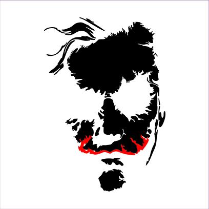 joker face white square