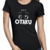 otaku ladies tshirt black