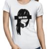 sad girl ladies tshirt white