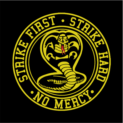 strike first cobra black square