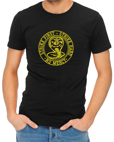 strike first cobra mens tshirt black