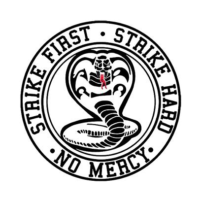 strike first cobra white square