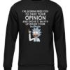 take your opinion black sweater