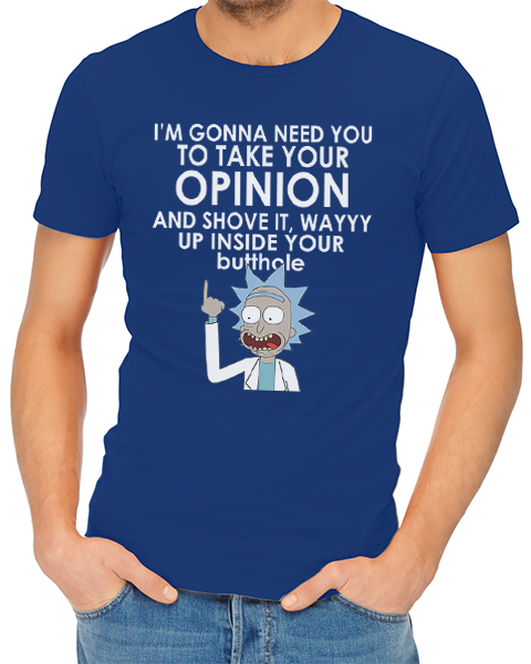 take your opinion mens tshirt blue