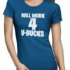 v-bucks ladies tshirt blue