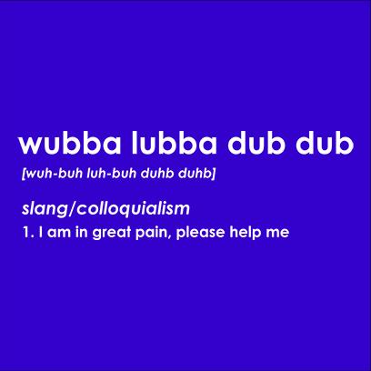 wubba lubba blue square