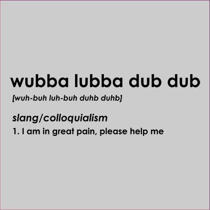 wubba lubba grey square