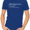 wubba lubba mens tshirt blue