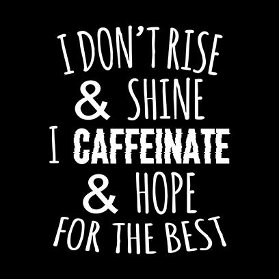 caffeinate hope black square